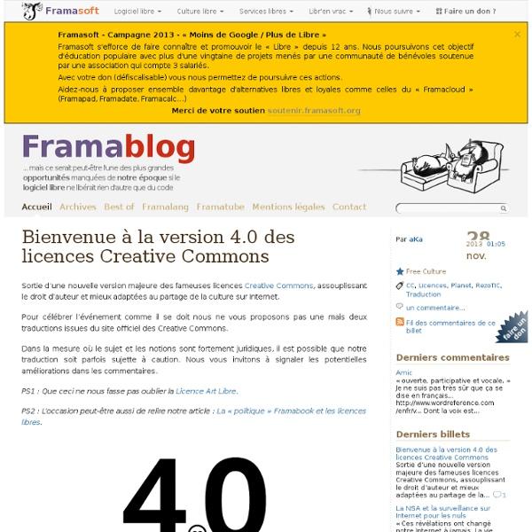 Bienvenue à la version 4.0 des licences Creative Commons
