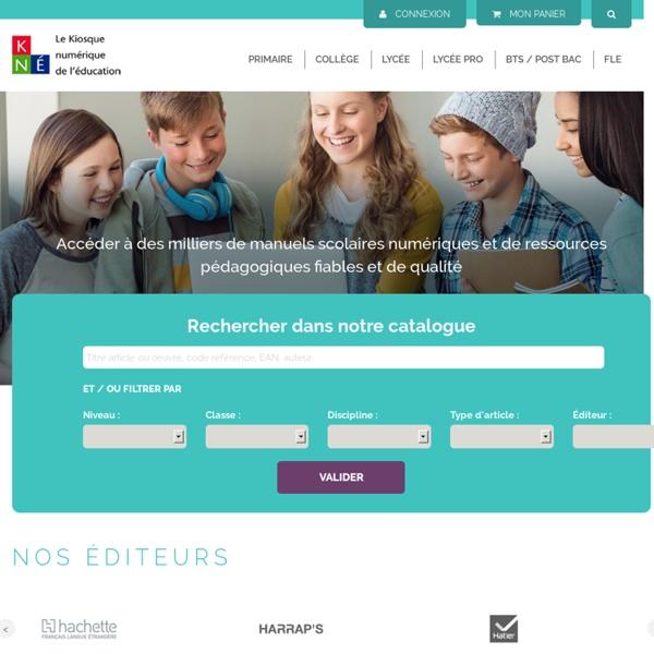 KNE - Bienvenue sur le portail des contenus numériques éducatifs KNE