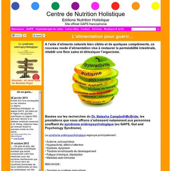 Bienvenue au Centre de Nutrition Holistique