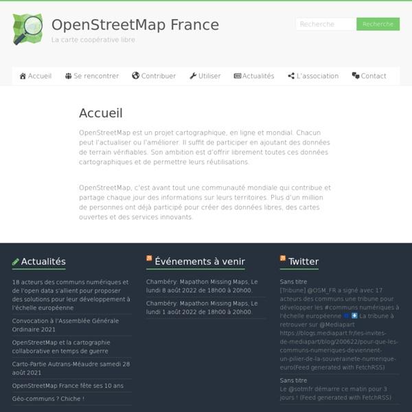 Bienvenue sur le site OpenStreetMap France !