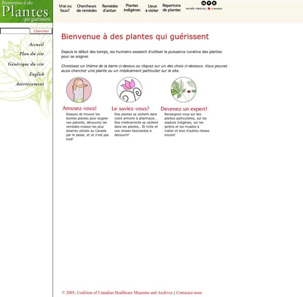 Bienvenue à des plantes qui guérissent - Bienvenue à des plantes qui guérissent