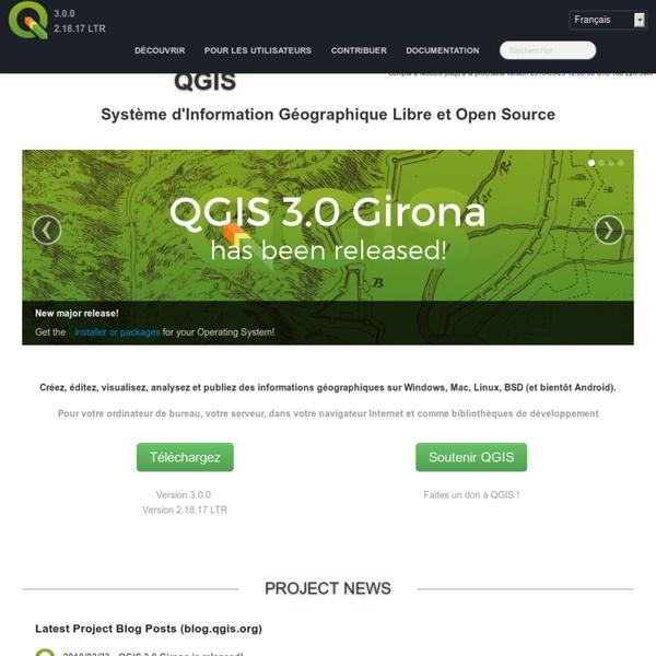 Bienvenue sur le projet QGIS !