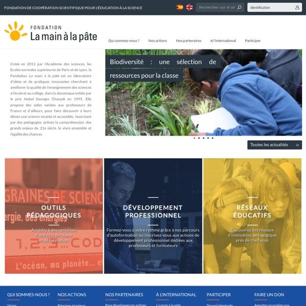 Le site de la Fondation La main à la pâte