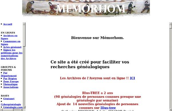 Bienvenue sur le site Memorhom