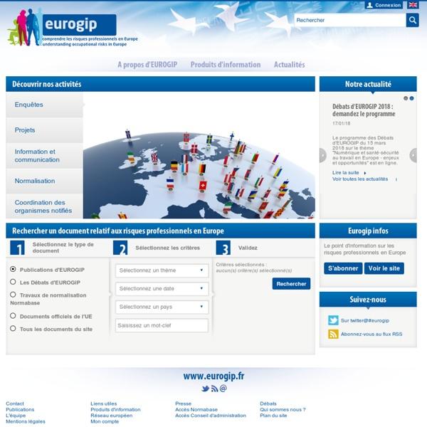 Les risques professionnels en Europe - Eurogip