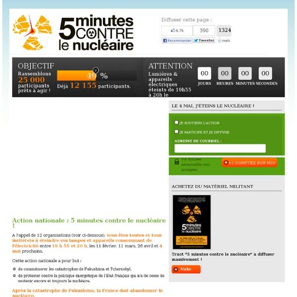 5 minutes contre le nucléaire