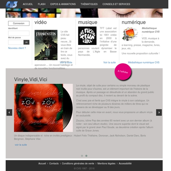 Bienvenue sur le site de CVS