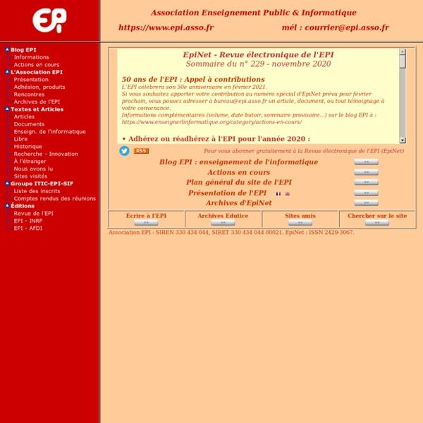 Bienvenue sur le site de l'EPI