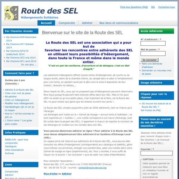 Bienvenue sur le site de la Route des SEL