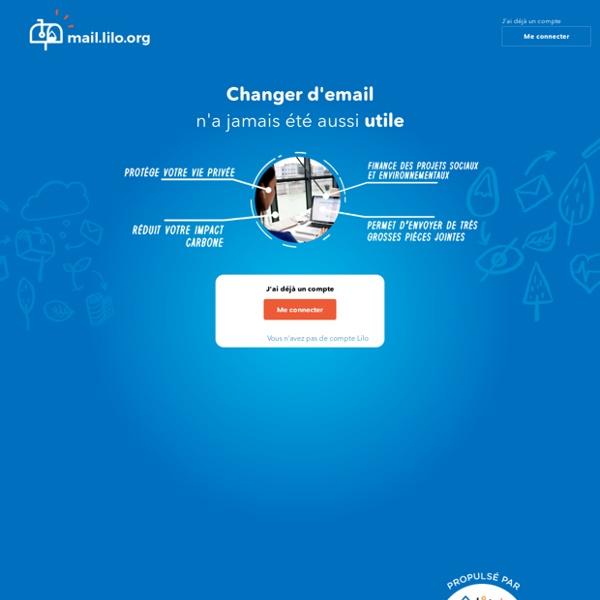 Lilo Mail-Boite Mail gratuite - mais vous devez être parrainé !