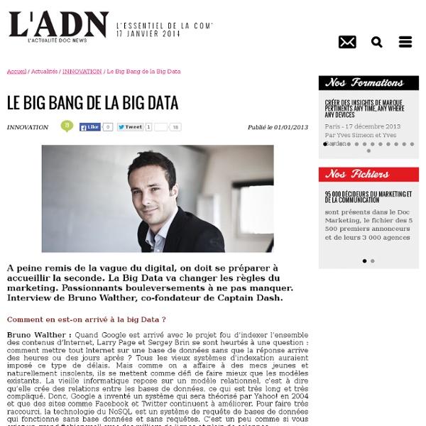 Le Big Bang de la Big Data - INNOVATION