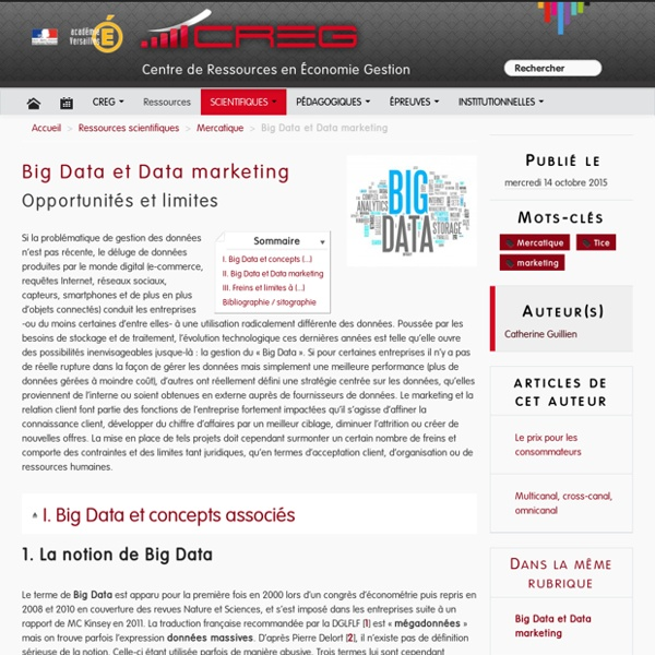 Big Data et Data marketing