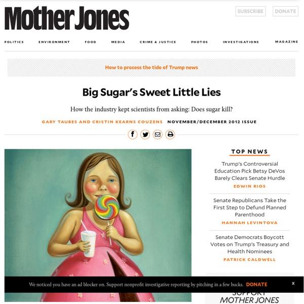 Big Sugar's Sweet Little Lies