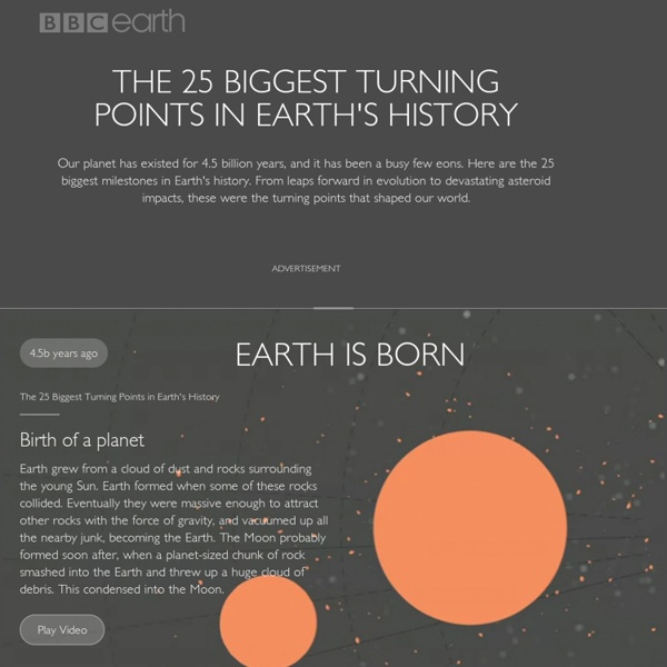 The 25 Biggest Turning Points in Earth's History