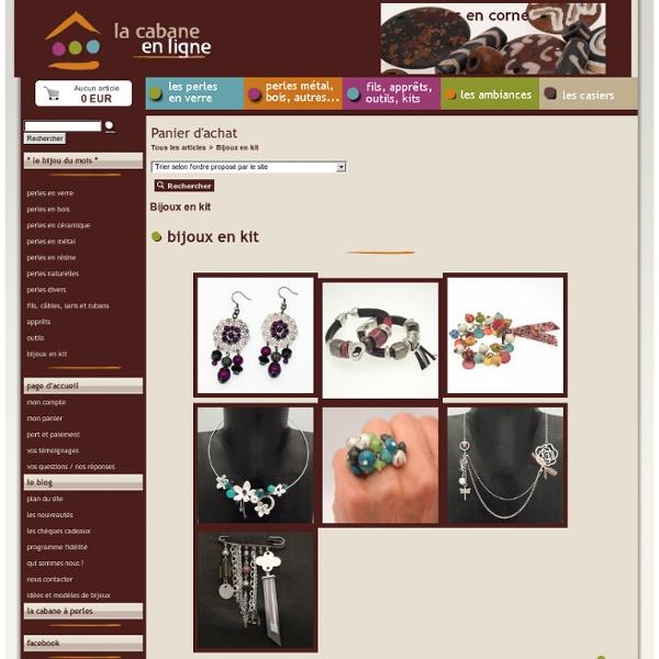 Des bijoux en kits à fabriquer chez soi avec la documentation pas à pas