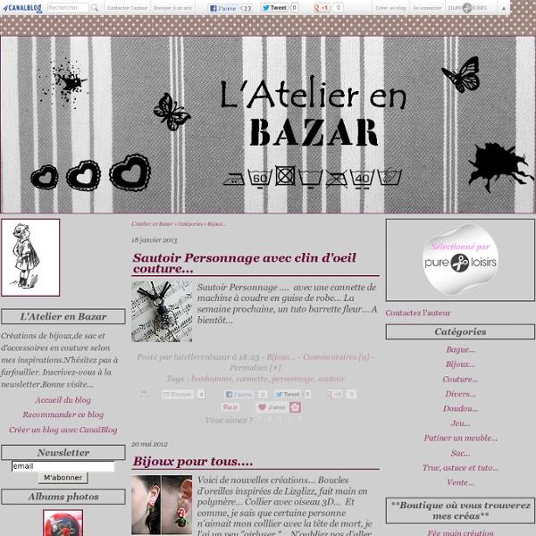 Bijoux... - L'Atelier en Bazar