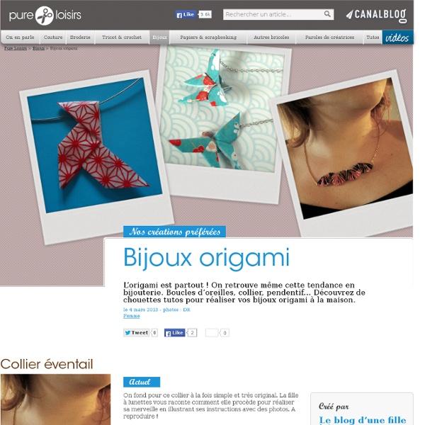 Bijoux origami - Bijoux