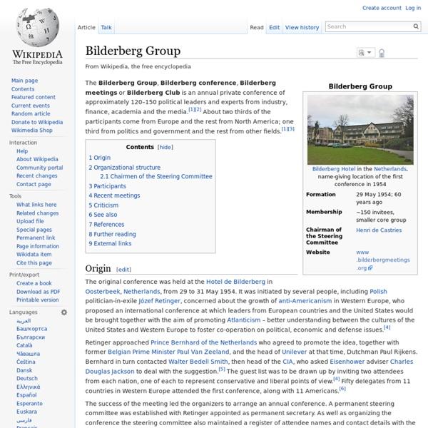 1954 Bilderberg Group