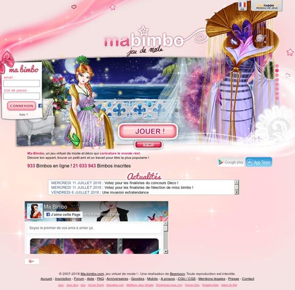 Ma Bimbo, jeu de mode ! Jeu de filles et jeu pour filles - Ma-bimbo.com