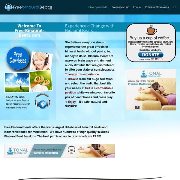 Free Binaural Beats - Download High Quality MP3's- Free Binaural Beats