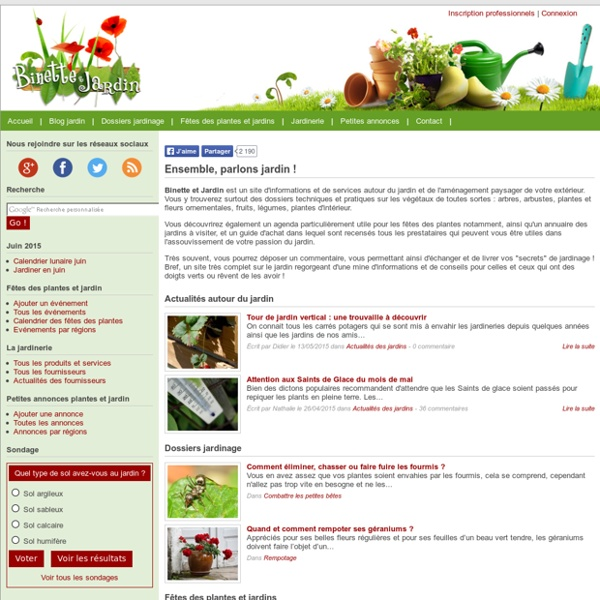 Jardinier : le jardinage facile avec fiches conseils jardinage sur Binette & Jardin