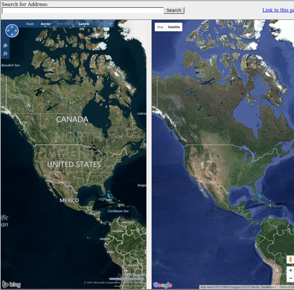 bing maps and google maps side by side