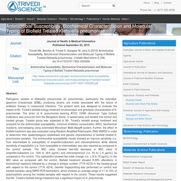 Klebsiella Pneumoniae Biochemical Characteristics