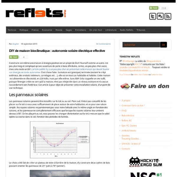 Diy de maison bioclimatique autonomie solaire lectrique effective pearlt - Autonomie electrique maison ...