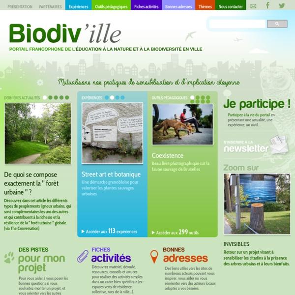 Le portail de l'éducation à la nature et à la biodiversité en ville des pays francophones