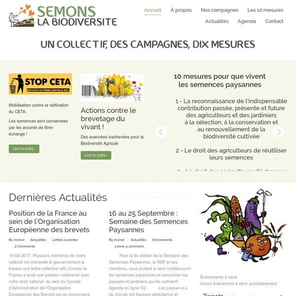 Campagne (s) pour une loi de reconnaissance positive des droits des agriculteurs par la libération des semences paysannes et fermières