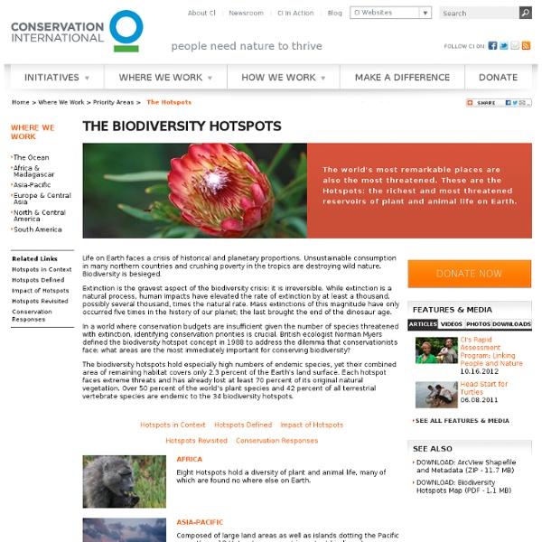 The Biodiversity Hotspots