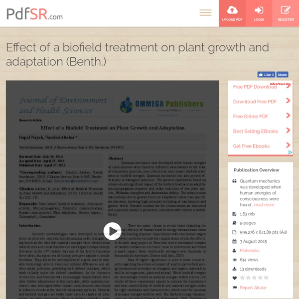Analysis of Plant Growth and Adaptation