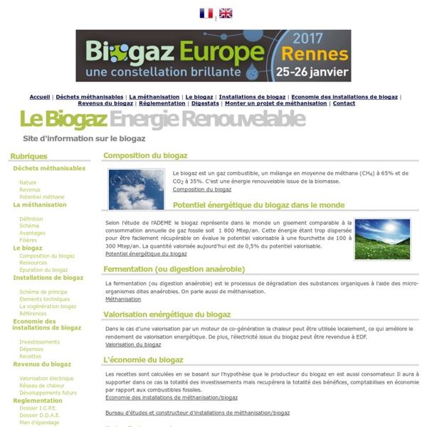 Biogaz Energie Renouvelable