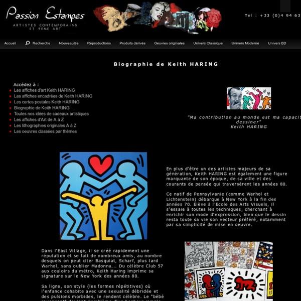 Biographie de Keith HARING : Artiste peintre et dessinateur POP ART