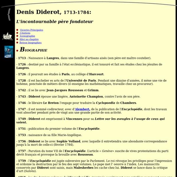 Biographie de Denis Diderot