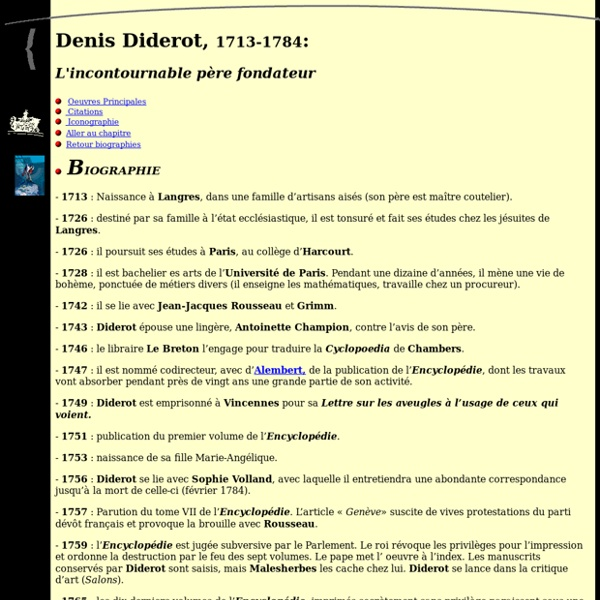 Biographie de Denis Diderot