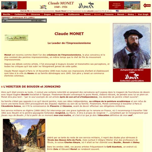 Claude MONET, biographie - L'Impressionnisme