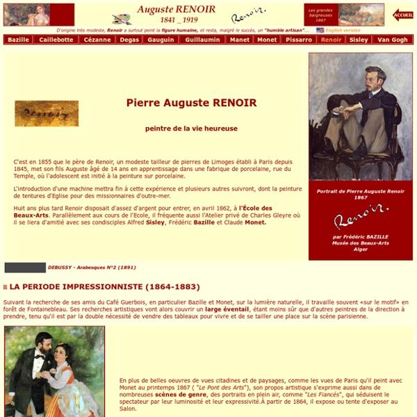 Auguste RENOIR, biographie - L'Impressionnisme