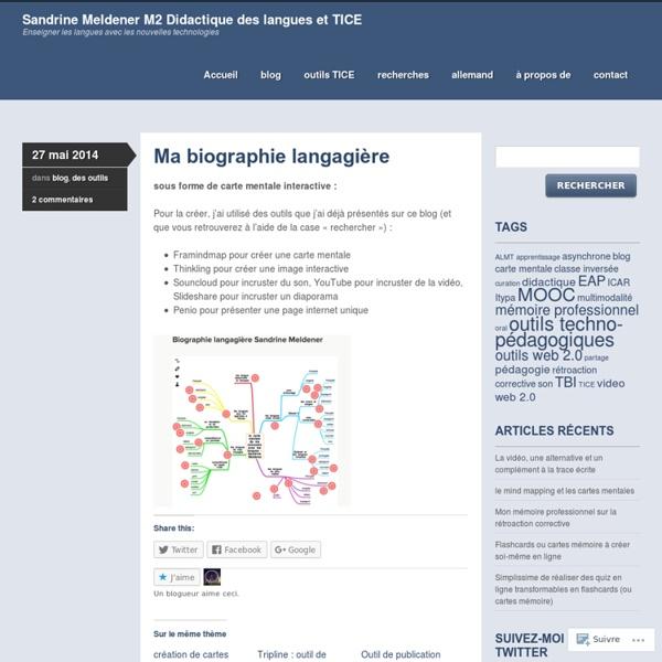Sandrine Meldener M2 Didactique des langues et TICE