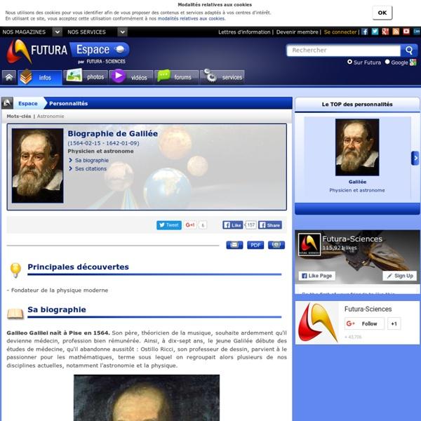 Biographie > Galilée, Physicien et astronome