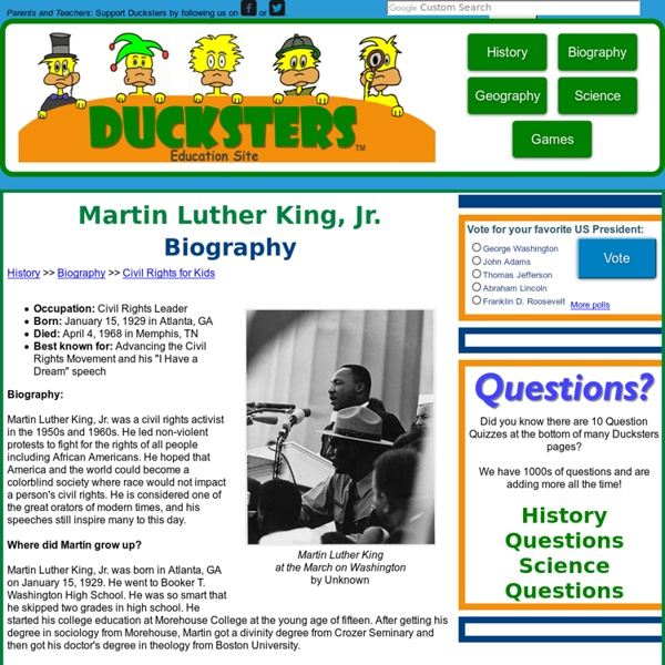 Kid's Biography: Martin Luther King, Jr.