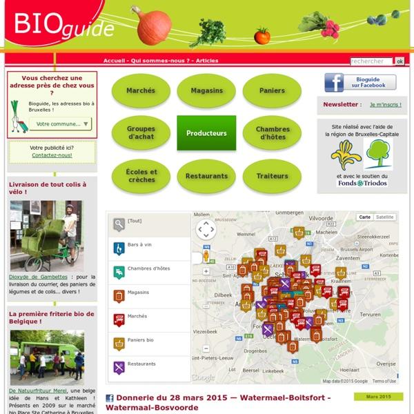 Bioguide : vos adresses bio à Bruxelles