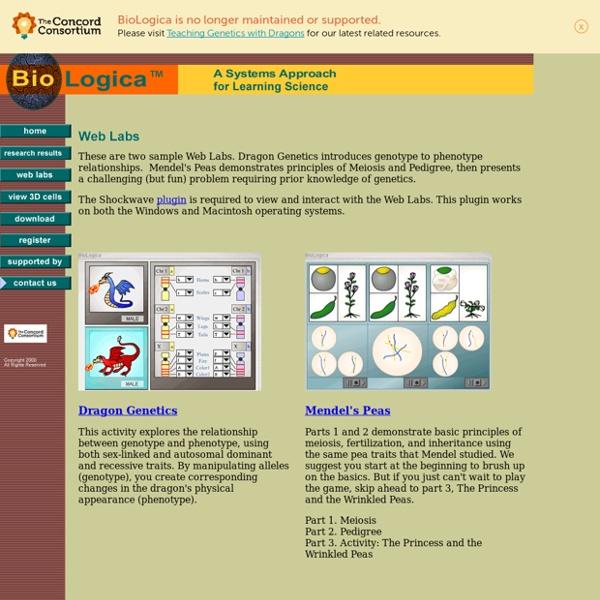 BioLogica, Web Labs