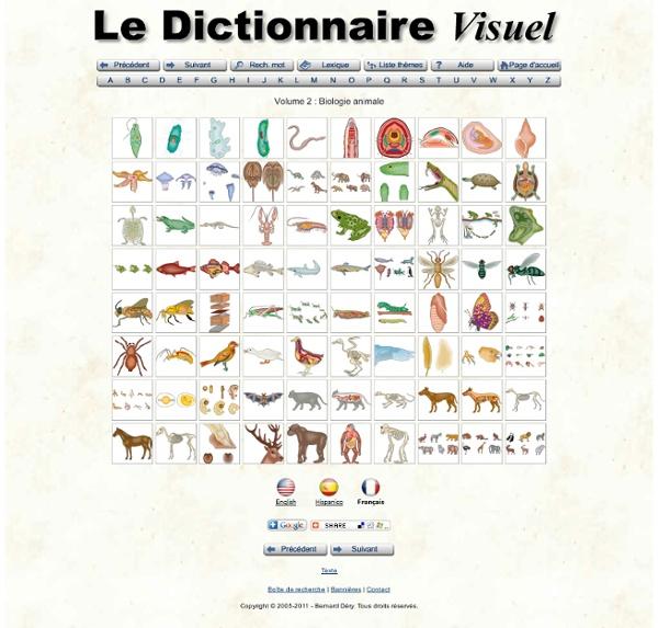 Biologie animale, Le dictionnaire visuel.