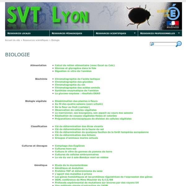 Biologie - SVT Lyon
