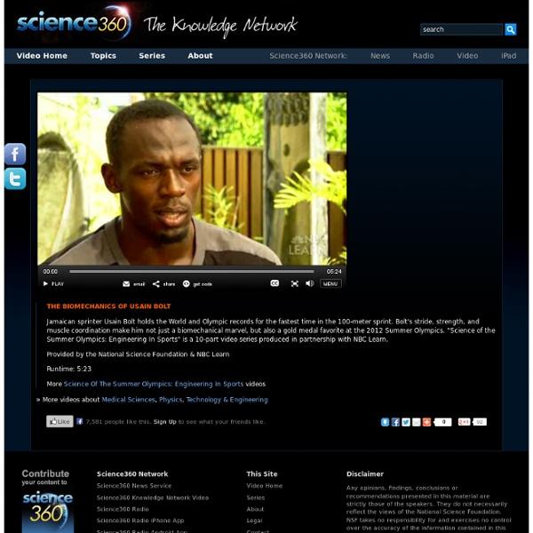 The Biomechanics Of Usain Bolt
