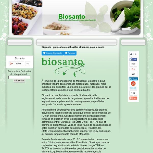 Biosanto: semences bio et rustiques facile à cultiver.