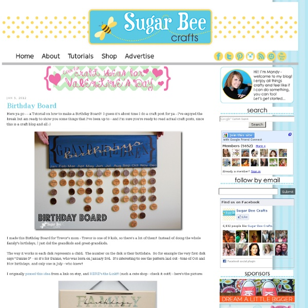 Sugar Bee Crafts: sewing, recipes, crafts, photo tips, and more!: Birthday Board