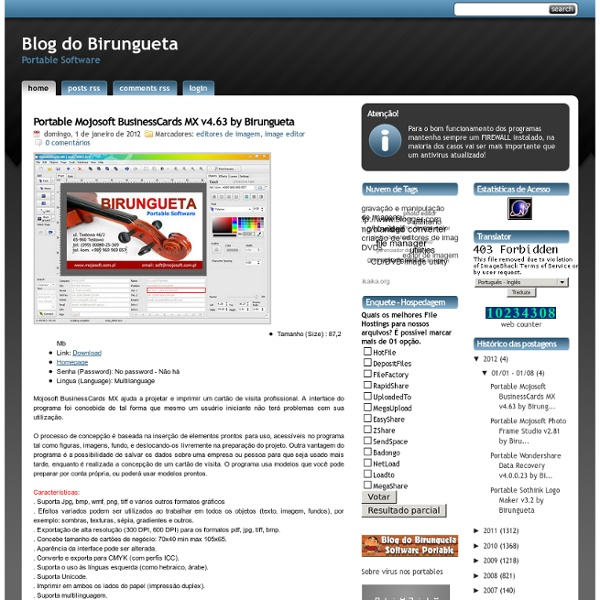 . Blog do Birungueta - Software Portable .