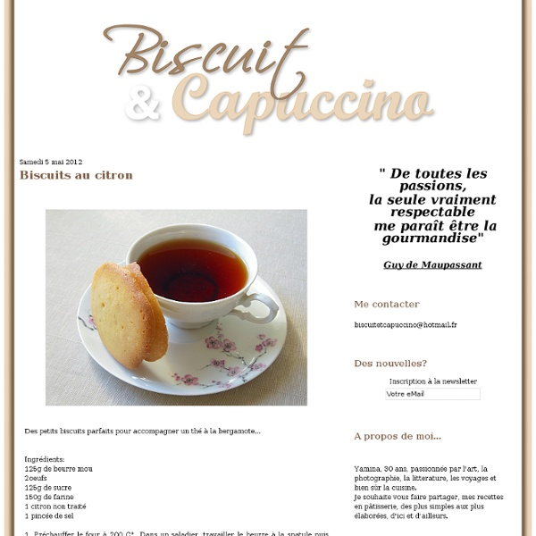 Biscuits au citron - Le blog de biscuit et capuccino